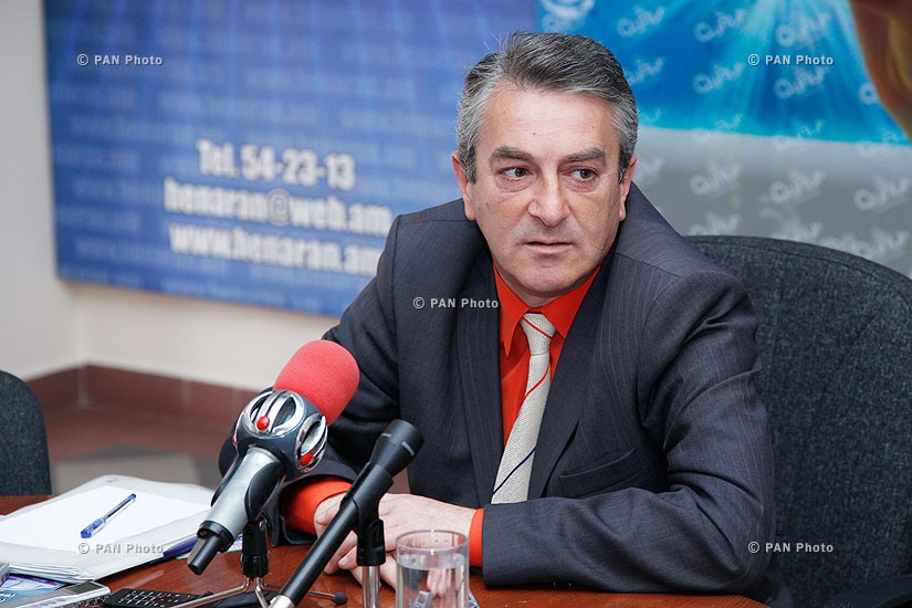 Press conference of Gagik Sarukhanyan