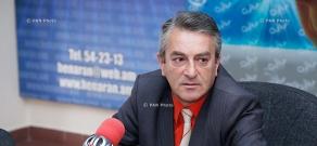 Press conference of Gagik Sarukhanyan