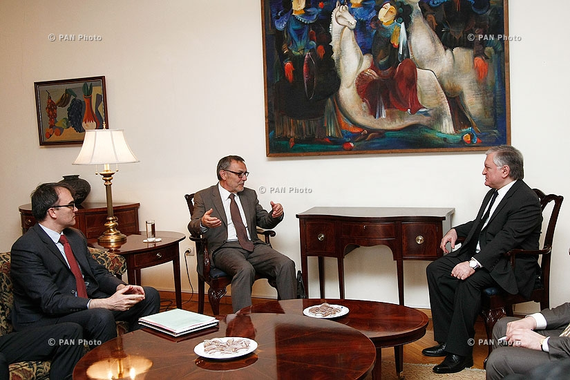 RA Minister of Foreign Affairs Edward Nalbandyan receives Angelo Gnaedinger, OSCE Special Representative for the South Caucasus,