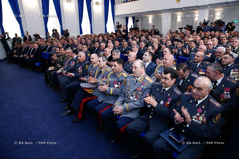 RA Govt.: Prime minister Hovik Abrahamyan attends meeting, dedicated to 96th anniversary of RA Police