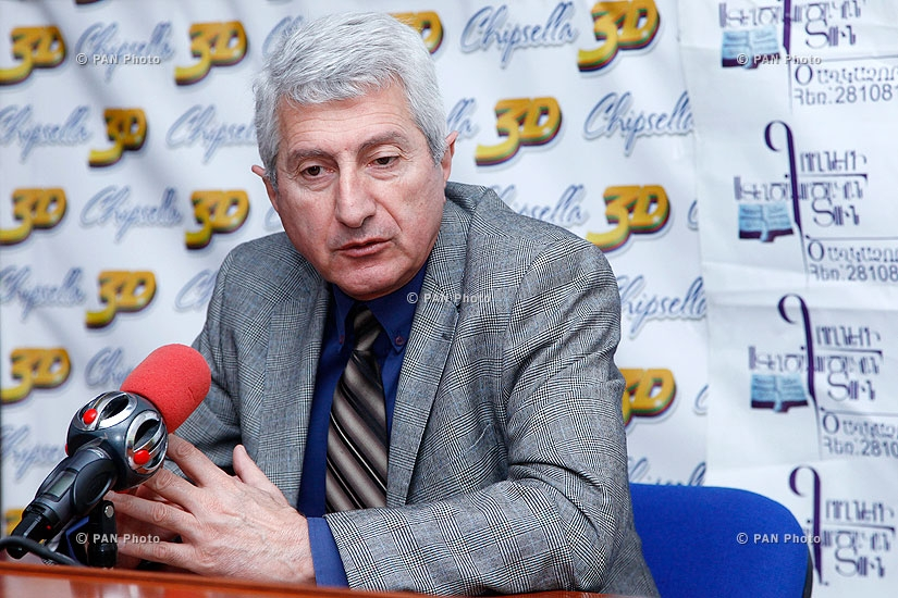 Press conference of the National Library's director Tigran Zargaryan