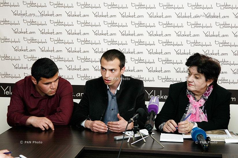 Press conference of Karine Danielyan, Aghvan Asoyan and Gor Alexanyan