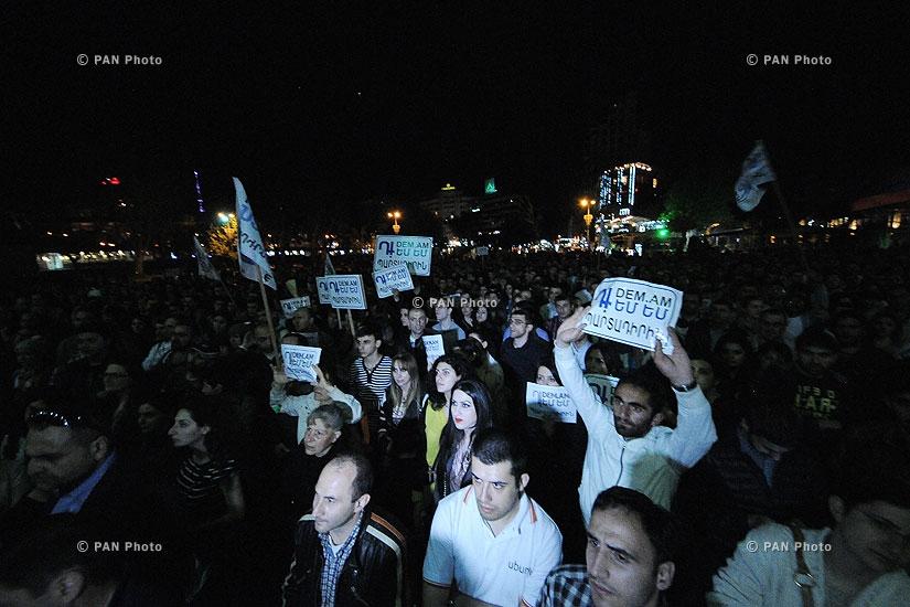 Протест инициативы «Против» перед резиденцией президента Армении
