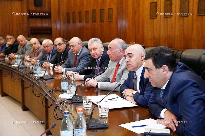 Правительство РА: Совещание при участии руководителей органов государственного управления и членов Союза промышленников и предпринимателей