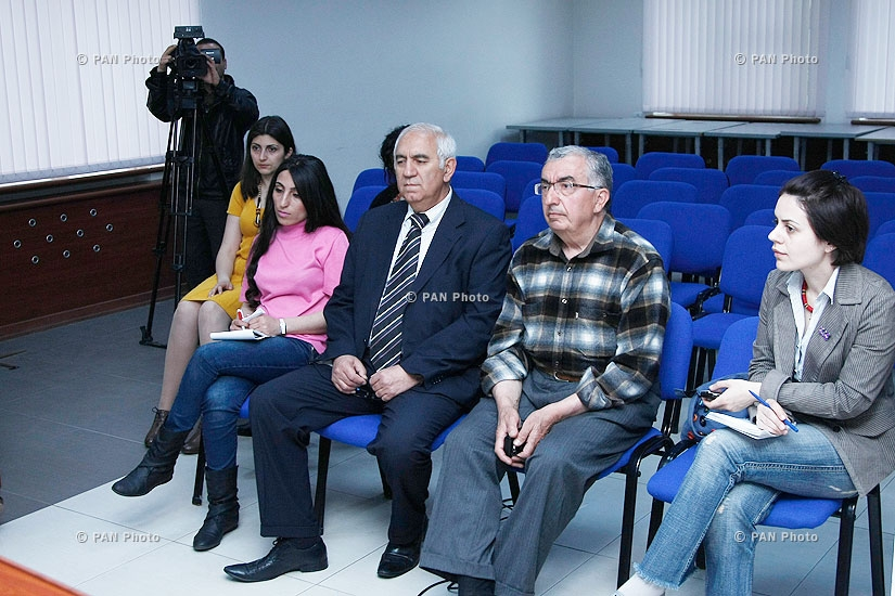 Press conference of Hakob Simonyan, Director of the Scientific and Research Institute of Historical and Cultural Heritage