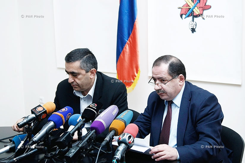 Press conference of ARF-D Supreme Body's members Armen Rustamyan and Aghvan Vardanyan