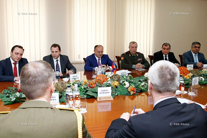 Armenian Defense Minister Seyran Ohanyan receives delegation, headed by Lithuanian Minister of National Defense Juozas Olekas