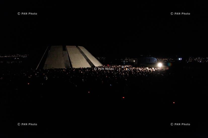 Традиционное факельное шествие, посвященное 99-летию Геноцида армян