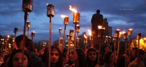 Torchlight procession commemorating 99th anniversary of Armenian genocide