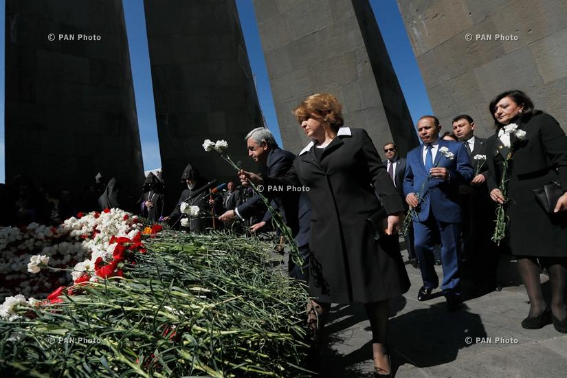 99-ая годовщина Геноцида армян в Цицернакаберде