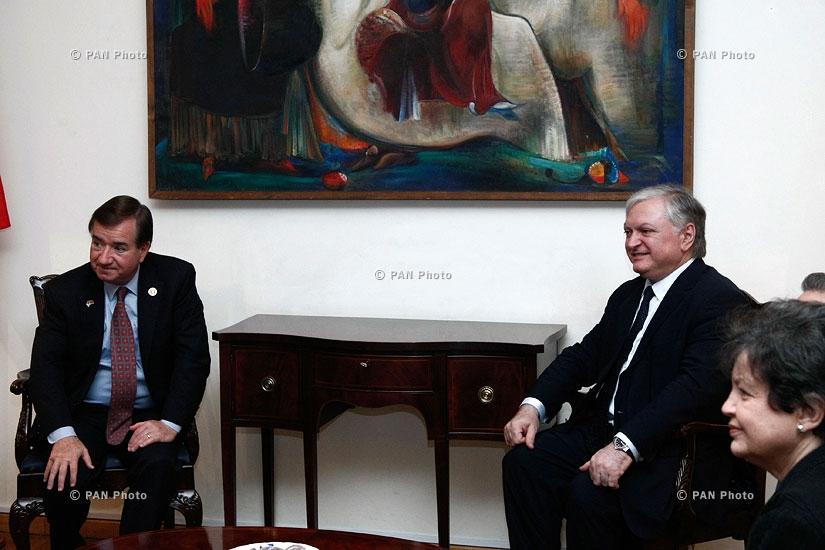 Министр иностранных дел Армении Эдвард Налбандян принял делегацию Конгресса США