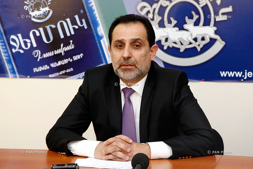 Press conference of National Consent party Leader Aram Harutyunyan