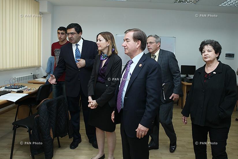U.S. congressmen visit Armenian National Engineering Laboratory (ANEL)