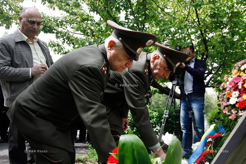 Wreath-laying ceremony at Chernobyl disaster memorial in Yerevan