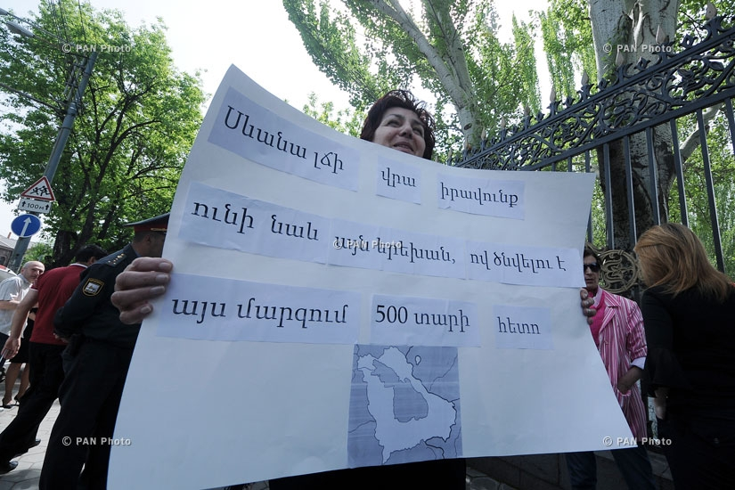 SOS Sevan initiative holds protest demonstration in front of National Assembly