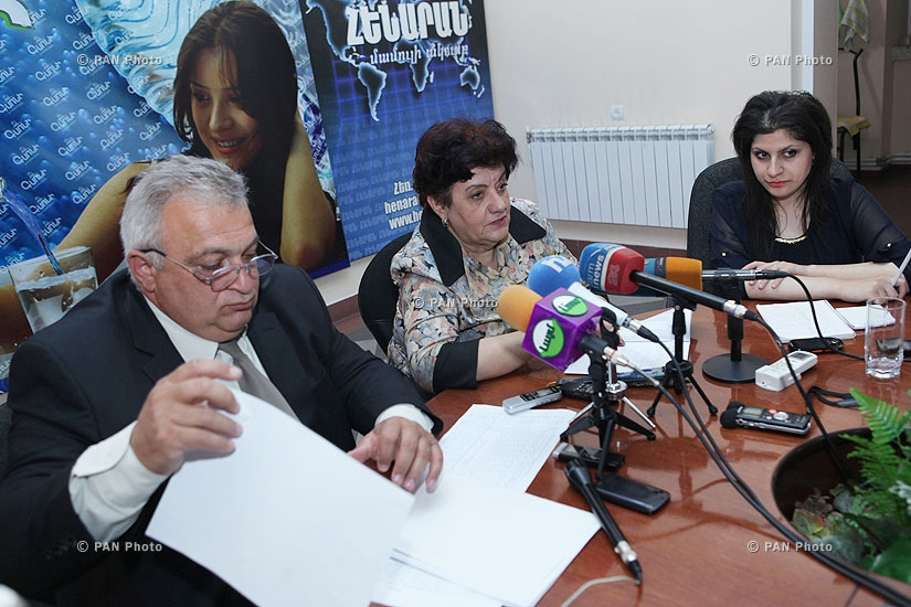 "Press conference of ""Sevan-Hrazdan jrar"" director Samvel Hovhannisyan and ecologist Karine Hovhannisyan"