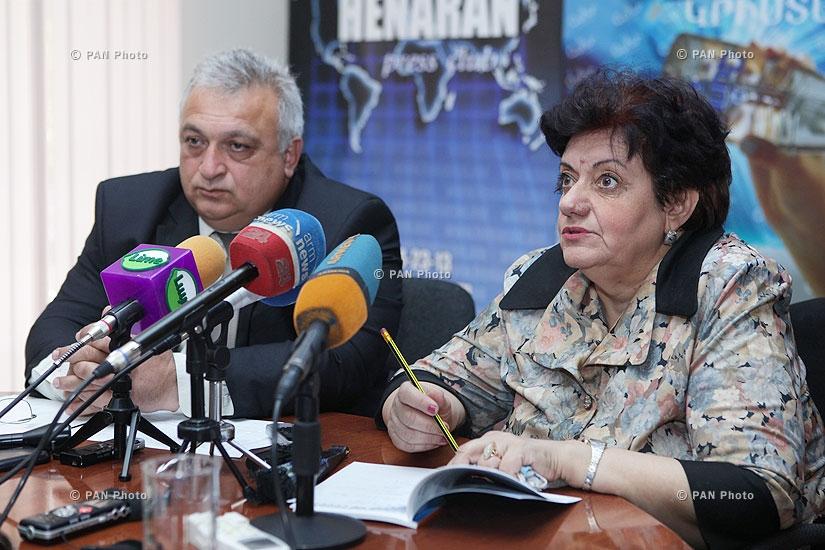 Пресс-конференция директора ЗАО «Севан-Раздан джрар» Самвела Ованнисяна и эколога Карины Ованнисян