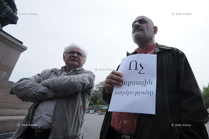 Шествие к российскому посольству против присоединения Армении к ТС