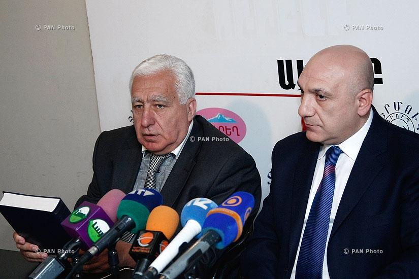 Press conference of National Dance Art Union chairman Karen Gevorgyan and  Armenian State Philharmonic Orchestra head Gagik Manasyan