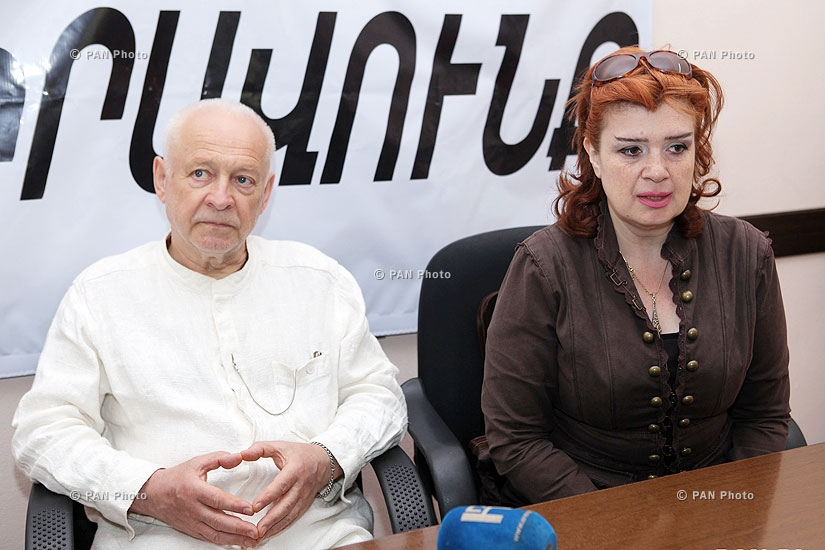 Director of Armmono international theatrical festival Marianna Mkhitaryan and Lithuanian director Saulius Varnas