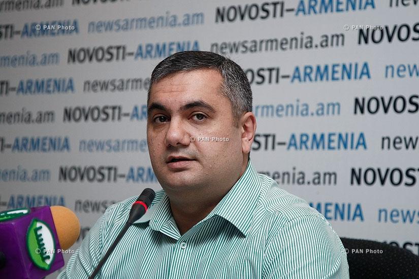 Пресс-конференция главы армянского представительства Gallup International Association Арама Навасардяна