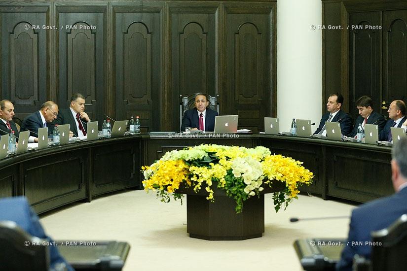 Правительство РА: Заседание Правительства
