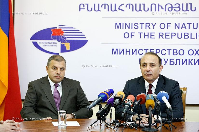 Правительство РА: Премьер-министр Овик Абрамян представил новоназначенного Министра охраны природы РА Арамаиса Григоряна