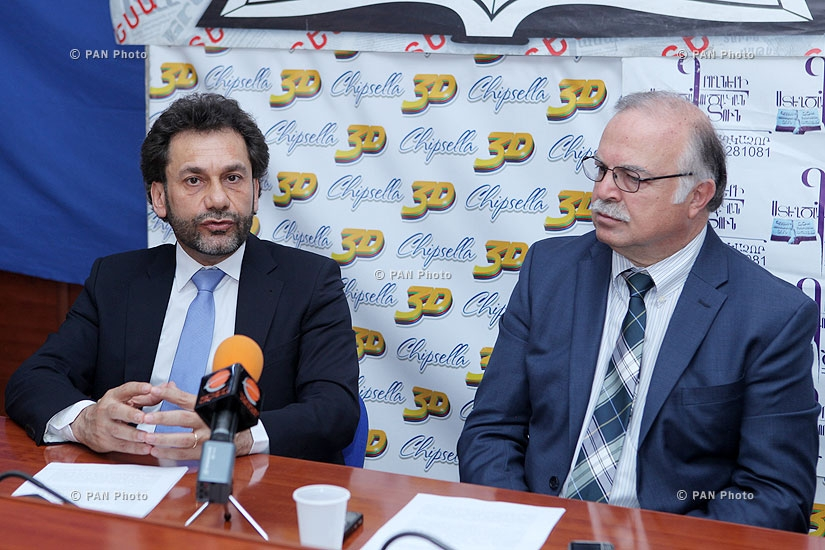 Press conference of Harutyun Selimyan and Mkrtich Melkonyan