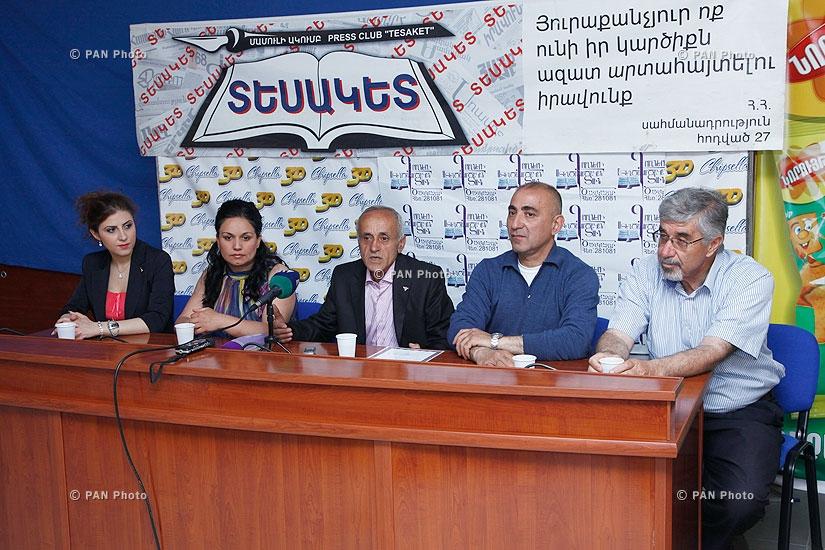Пресс-конференция заслуженного работника культуры Гусана Айказуна и ансамбля «Айказунк»