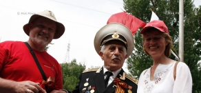Rally  in honor of young heroes, who died in the Great Patriotic War