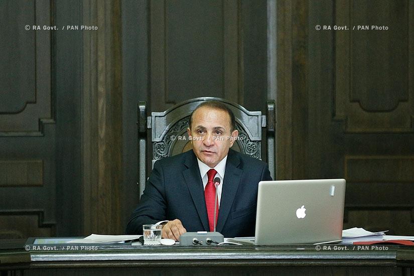 ՀՀ կառավարություն. Կառավարության նիստ
