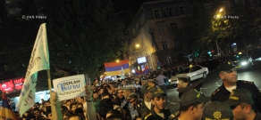 I am Against initiative organizies march in downtown Yerevan