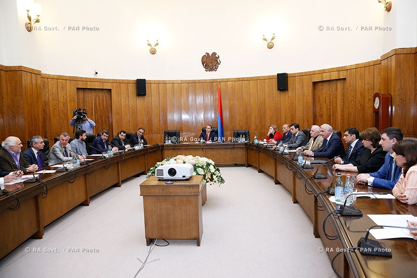 RA Govt.: Government commission meeting on organization of Konstantin Orbelian's funeral