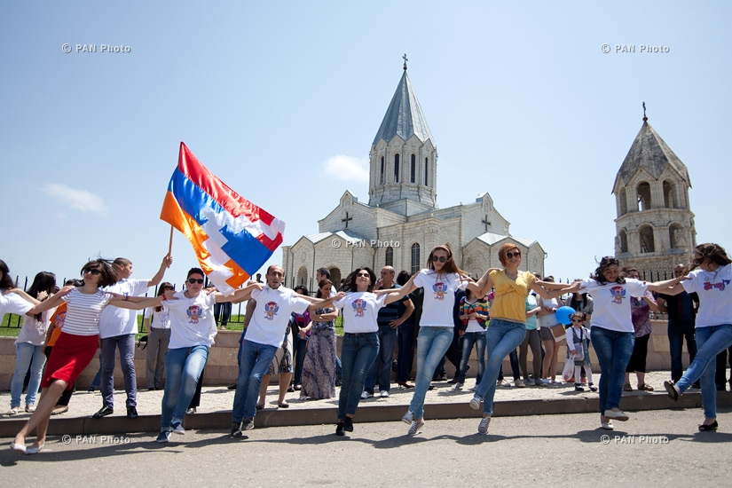 Shushi liberation 22nd anniversary parade in Stepanakert, Artsakh
