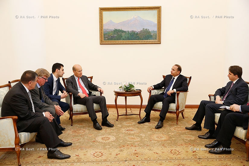 RA Govt.: PM Hovik Abrahamyan receives a delegation, led by Executive Chairman Jérôme Le Conte of the French Saur SAS