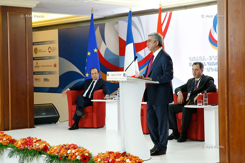 Armenian-French business forum kicked off