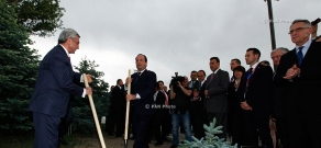 President of France François Hollande visits Tsitsernakaberd Memorial