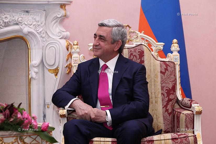 ՀՀ նախագահ Սերժ Սարգսյանը ընդունել է Ֆրանսիայի նախագահ Ֆրանսուա Օլանդին