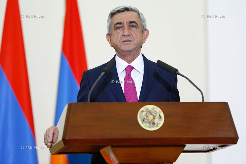 Joint press conference of Armenian and French Presidents and negotiations between delegations