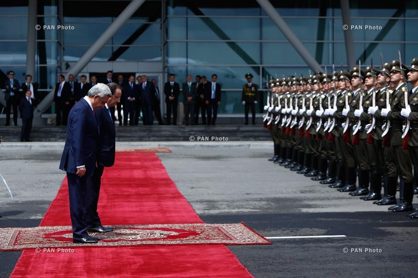 Ֆրանսիայի նախագահ Ֆրանսուա Օլանդի ճանապարհման պաշտոնական արարողությունը