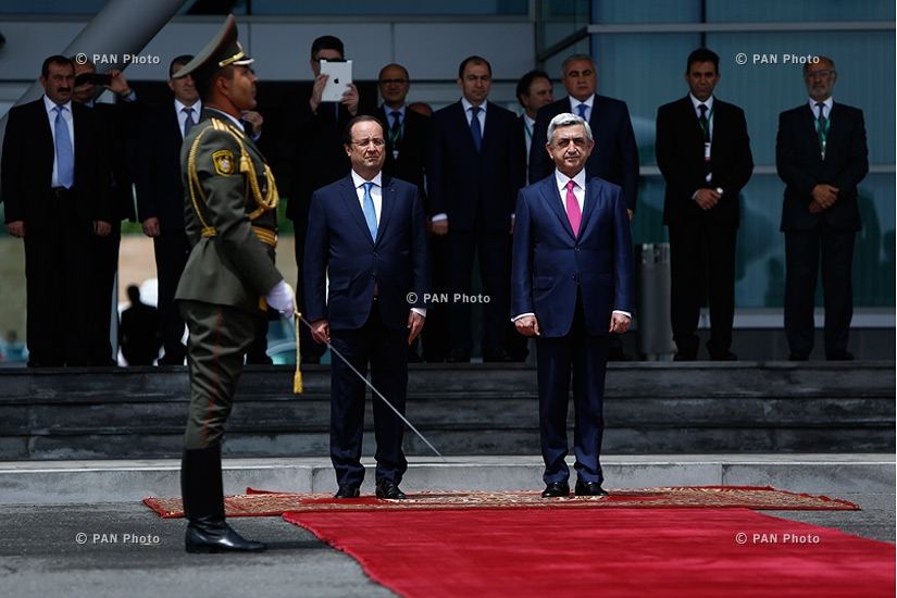 Official farewell ceremony of French President François Hollande