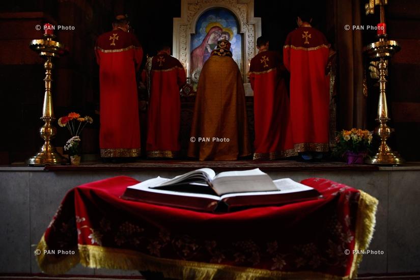 Մովսես Տաթևացի կաթողիկոսի մահվան հիշատակին նվիրված պատարագ Զորավոր Ս.Աստվածածին եկեղեցում