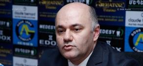 Press conference of Orinats Yerkir MP Mher Shahgeldyan