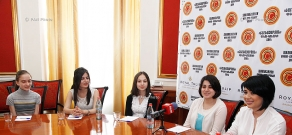"Press conference of ""Little Singers of Armenia"" choir director Tatevik Harutyunyan"