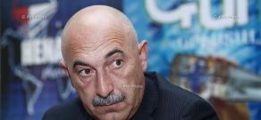 Press conference of Armen Karapetyan