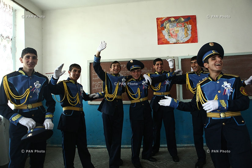 Graduation ceremony in Armavir Military and Sports specialized college named after Tigran Mets