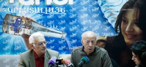 Press conference of Hrazdan stadium's architect Gurgen Musheghyan and architect Sashur Kalashyan