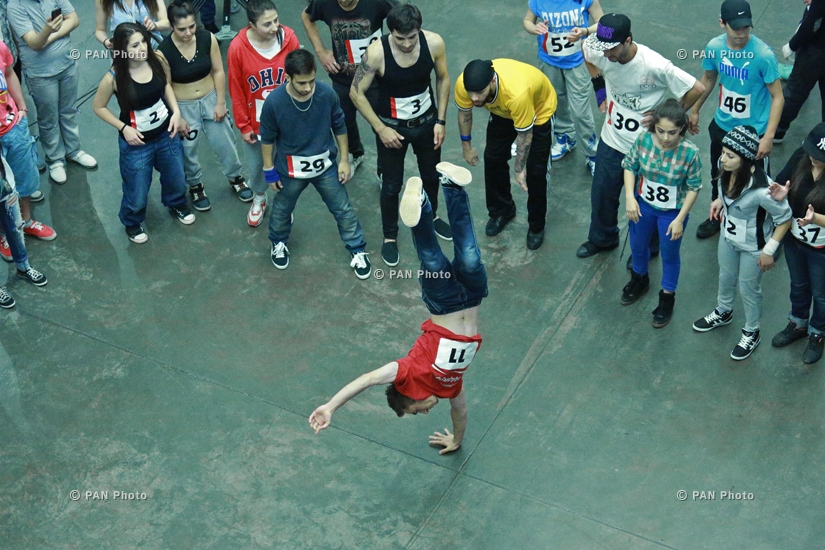 Unlimited Hip Hop Competition. Qualifying round in Yerevan