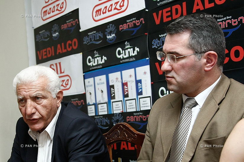 Press conference of Lernik Alexanyan and Armen Martirosyan