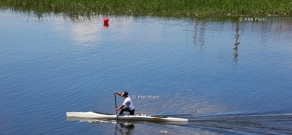 Armenian Canoe and rowing tournament in Yerevan Lake